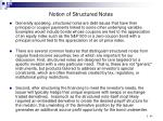 notion of structured notes