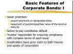 basic features of corporate bonds i
