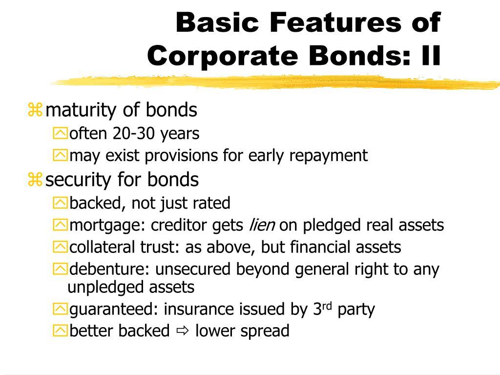 maturity of bonds