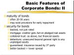 basic features of corporate bonds ii