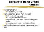corporate bond credit ratings