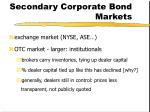 secondary corporate bond markets