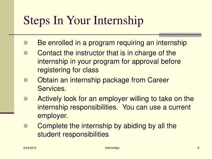 Steps In Your Internship