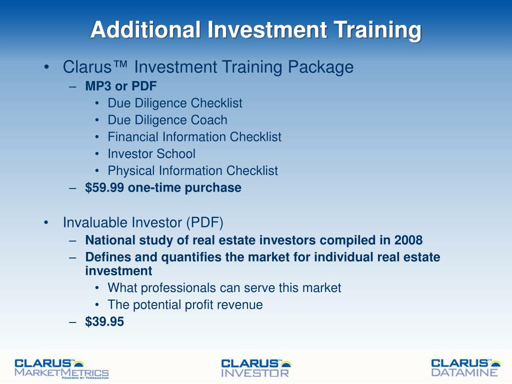 Additional Investment Training