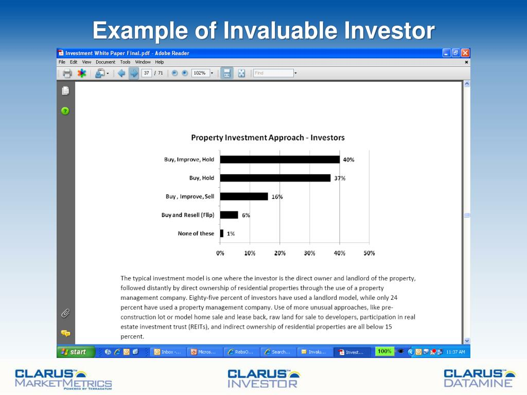 Example of Invaluable Investor