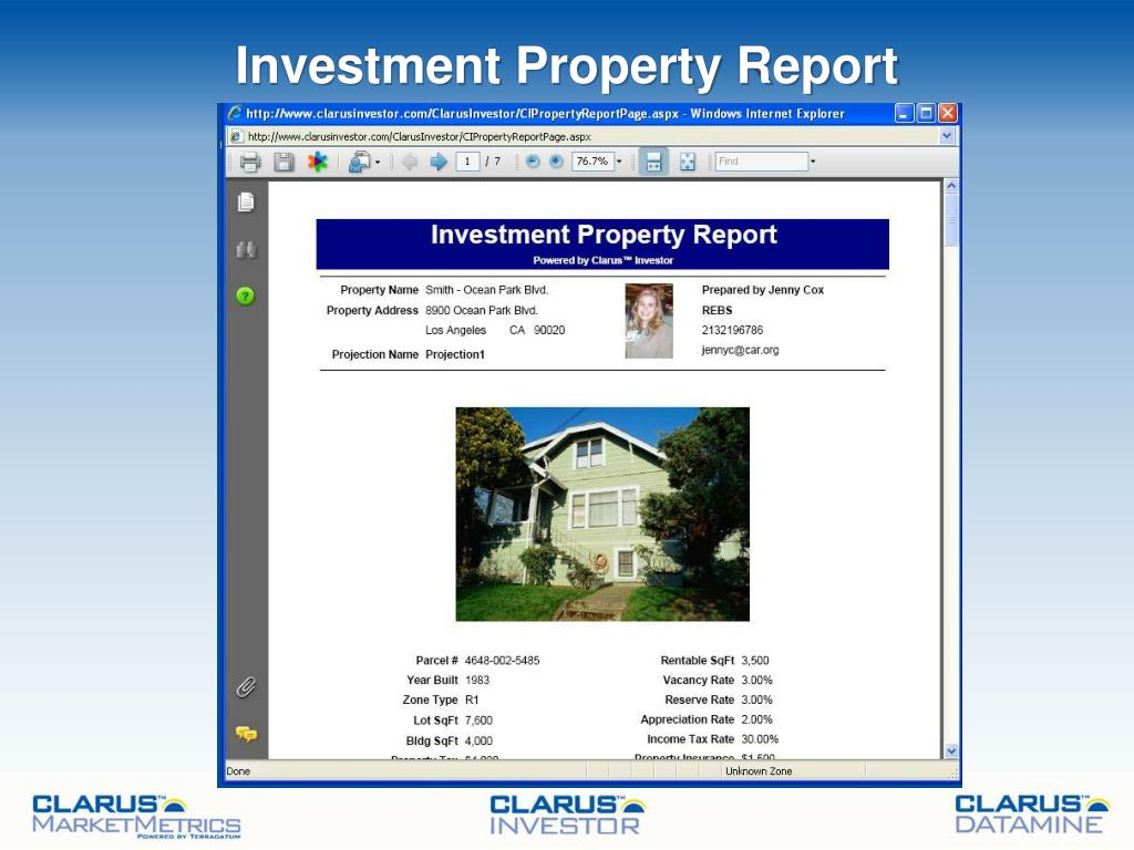 Investment Property Report