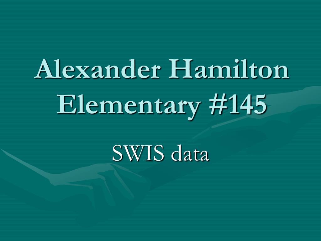 Alexander Hamilton Elementary #145