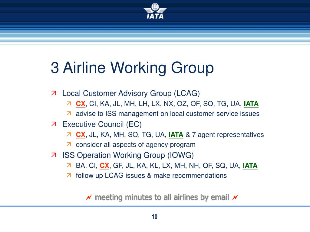 3 Airline Working Group