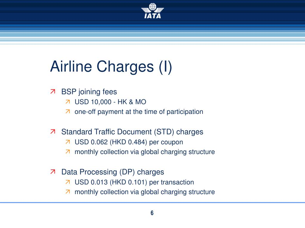 Airline Charges (I)