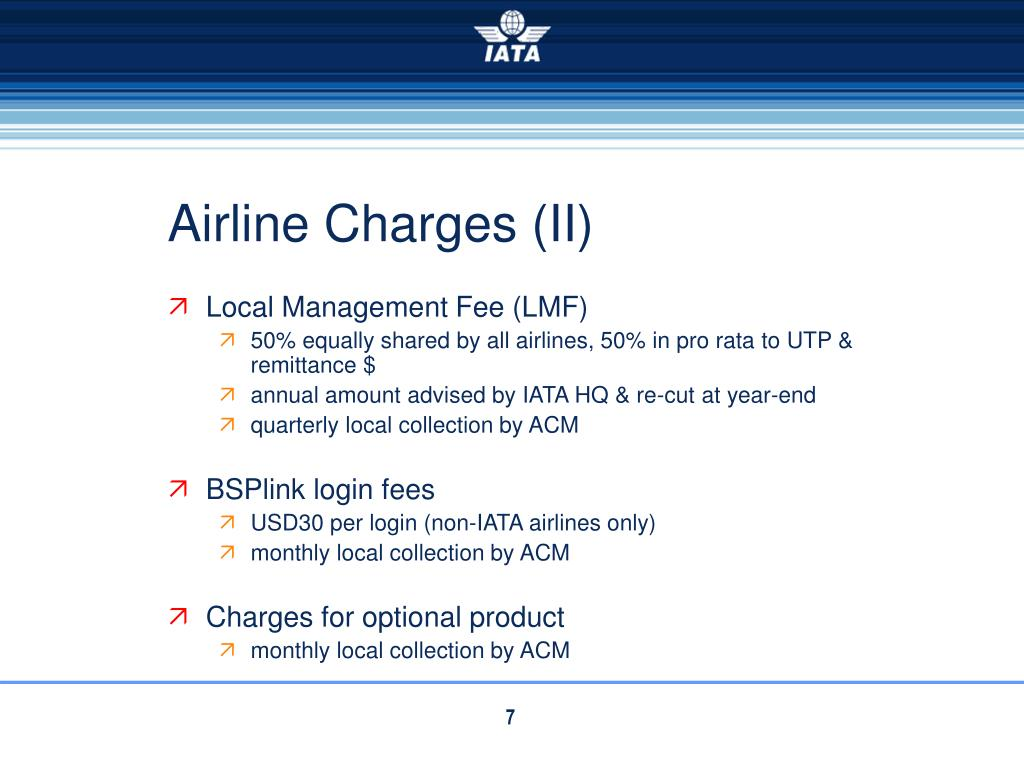 Airline Charges (II)