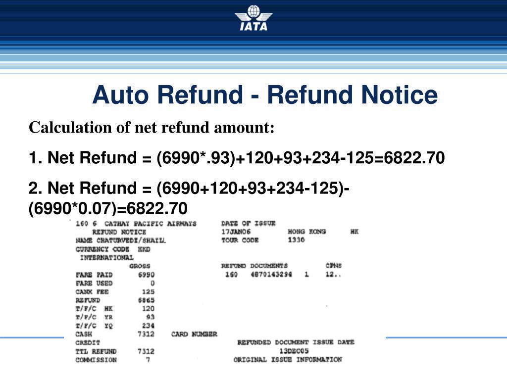 Auto Refund - Refund Notice