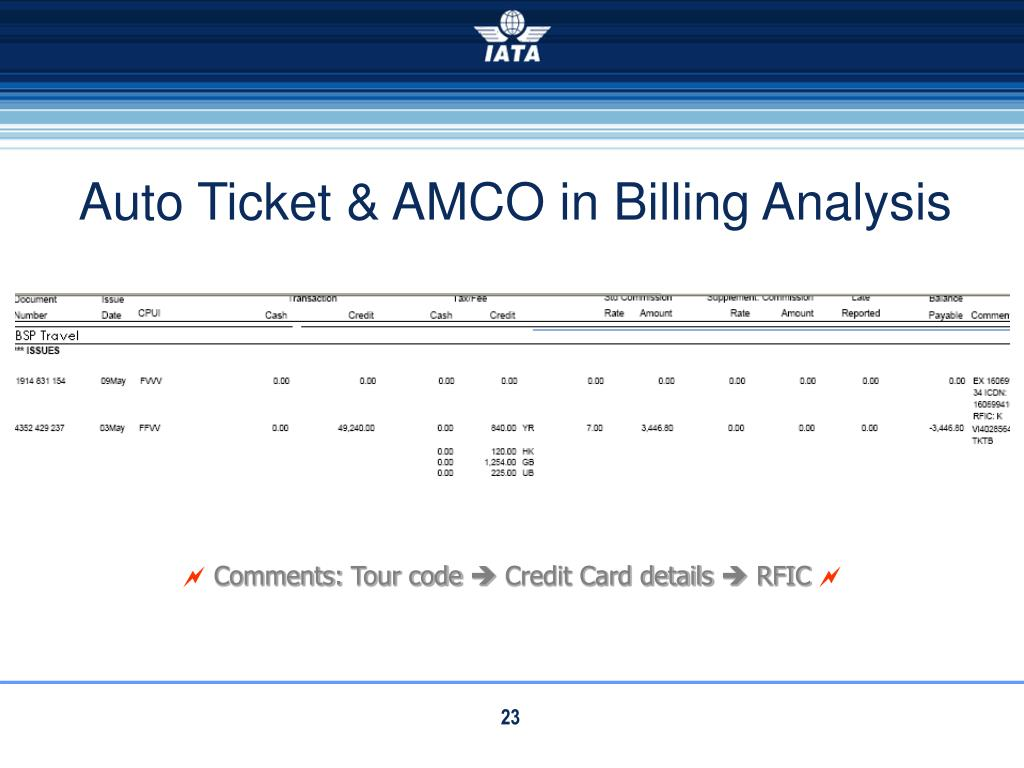 Auto Ticket & AMCO in Billing Analysis