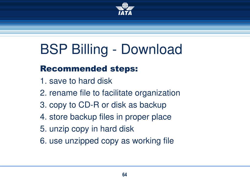 BSP Billing - Download