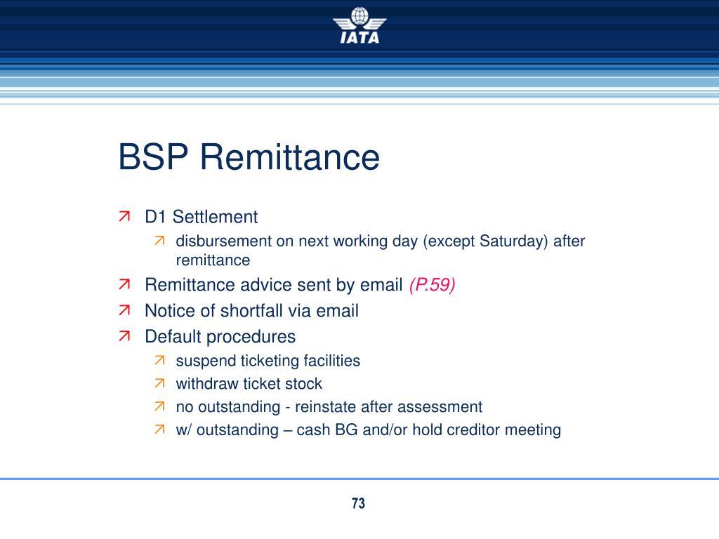 BSP Remittance