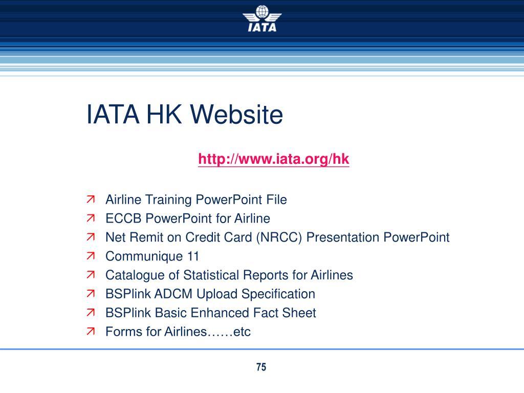 IATA HK Website