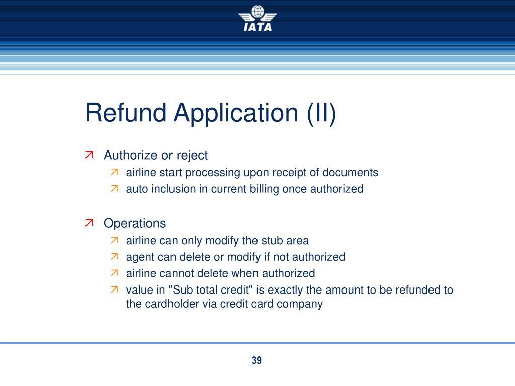 Refund Application (II)