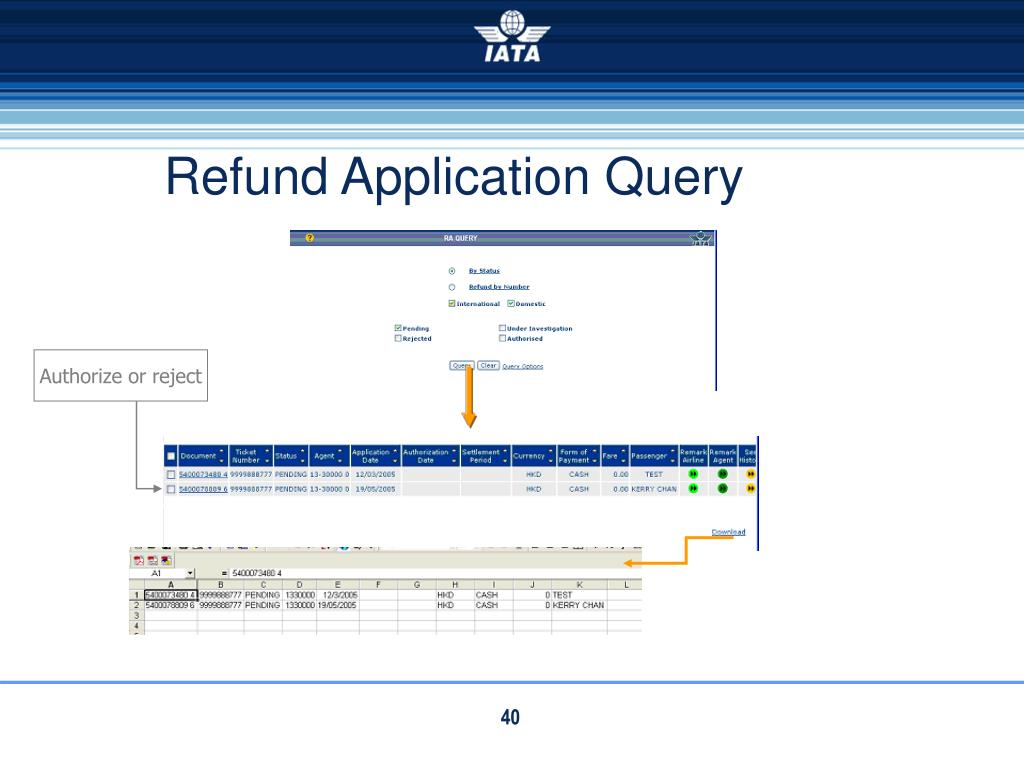 Refund Application Query