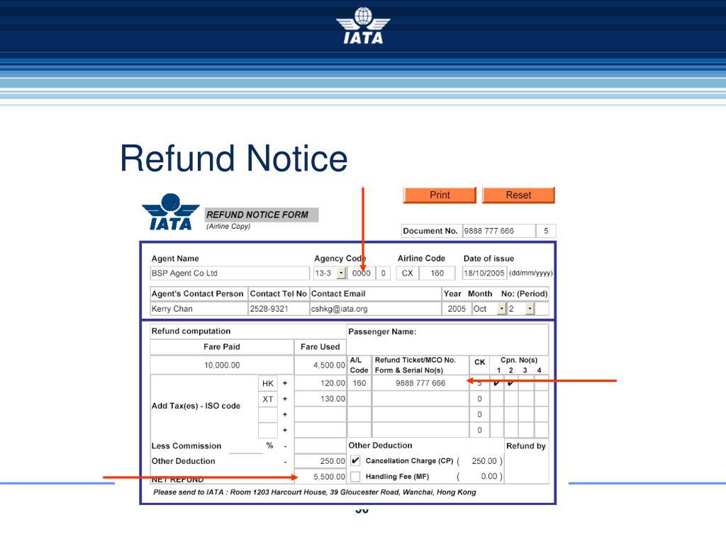 Refund Notice