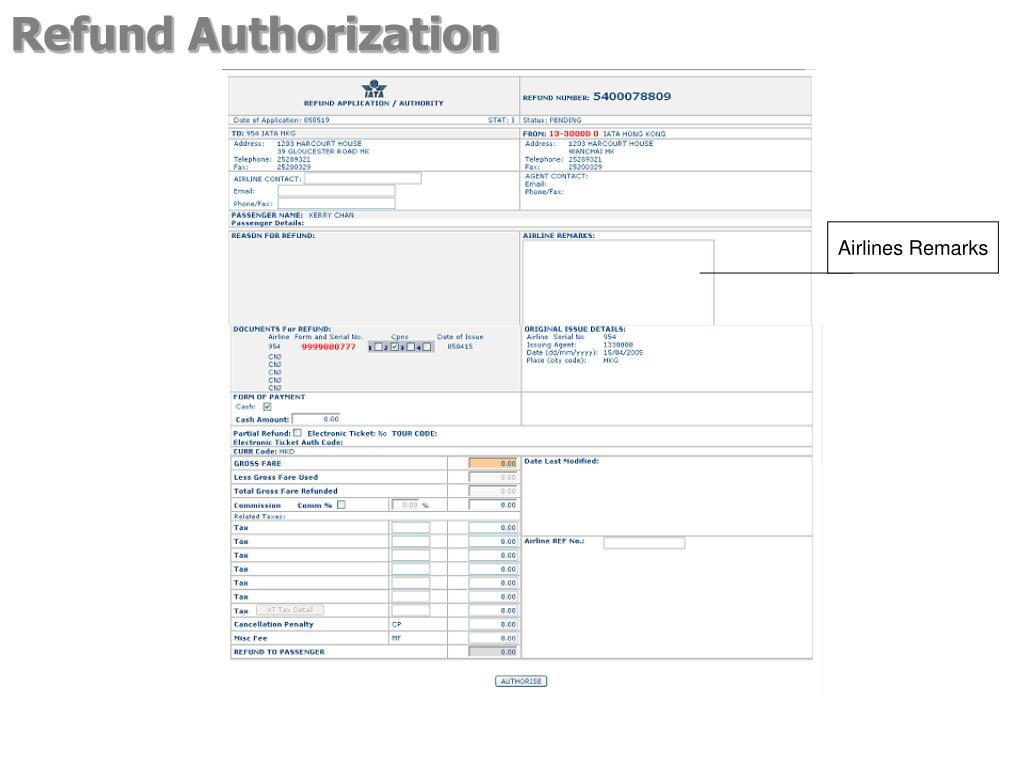 Refund Authorization