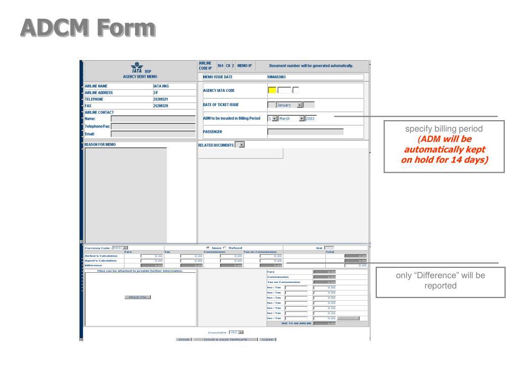 ADCM Form