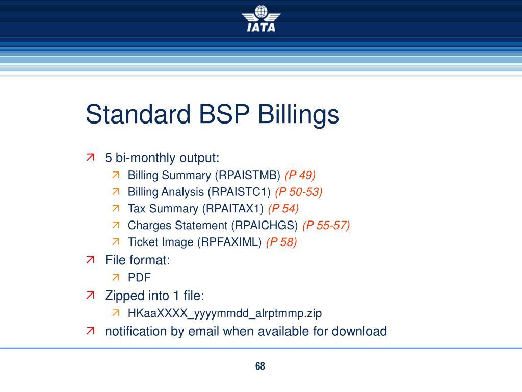 Standard BSP Billings