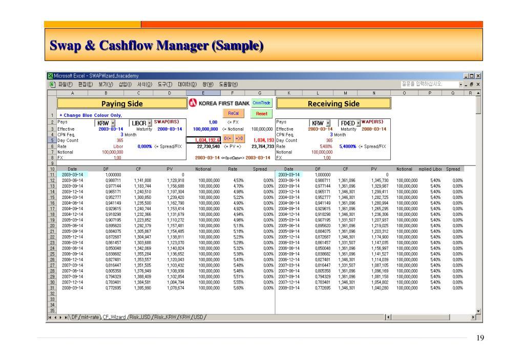 Swap & Cashflow Manager (Sample)