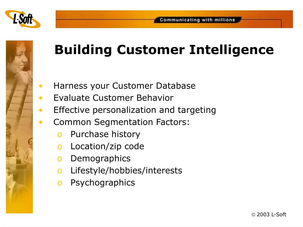 Building Customer Intelligence