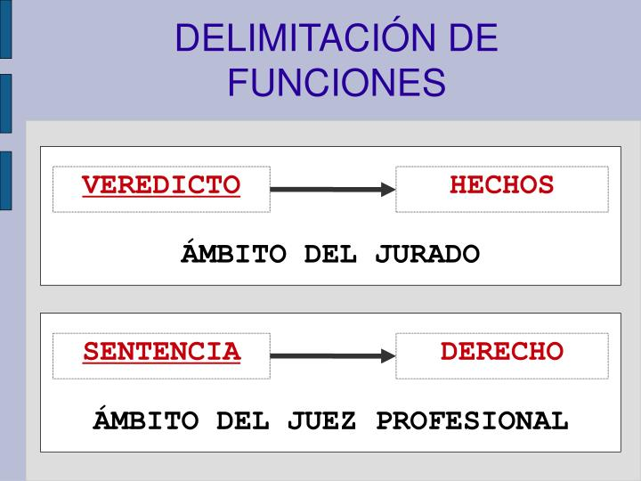 DELIMITACIÓN DE FUNCIONES