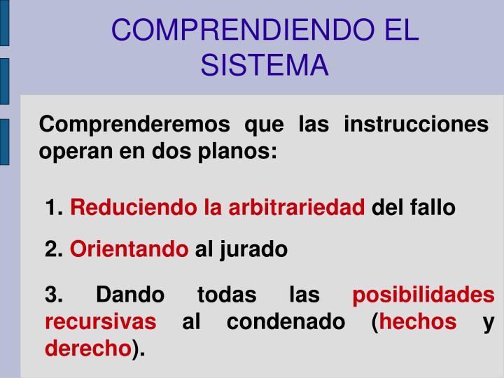 COMPRENDIENDO EL SISTEMA