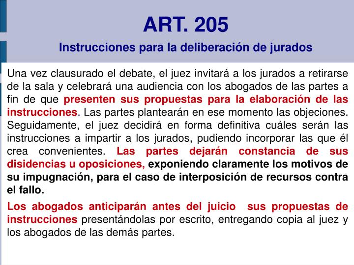 ART. 205