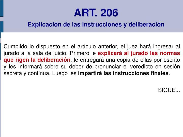 ART. 206