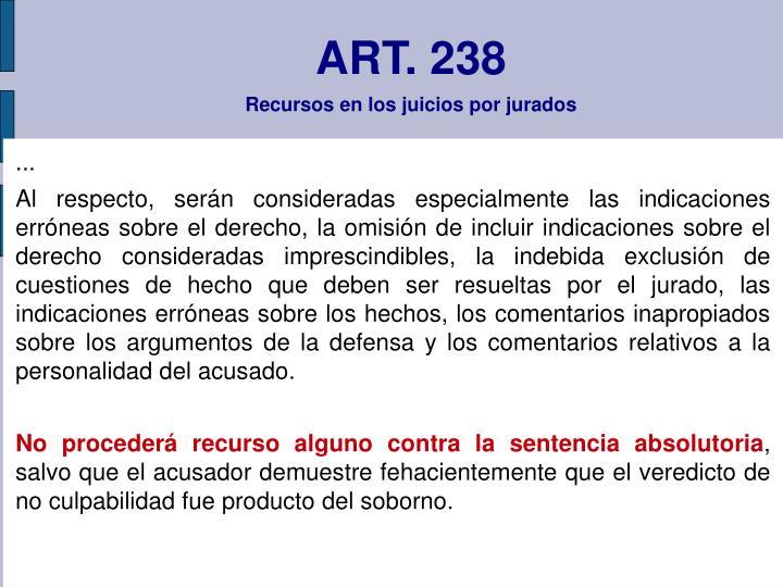ART. 238