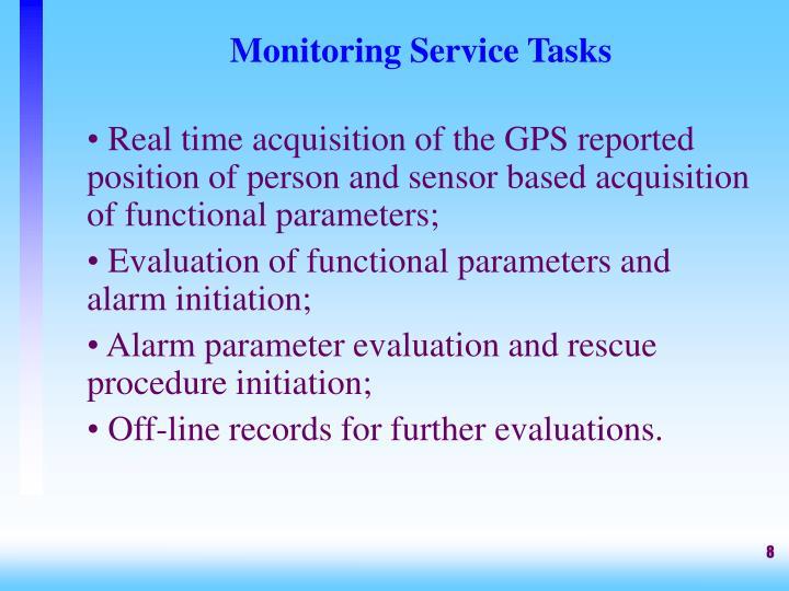 Monitoring Service Tasks