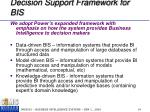 decision support framework for bis1