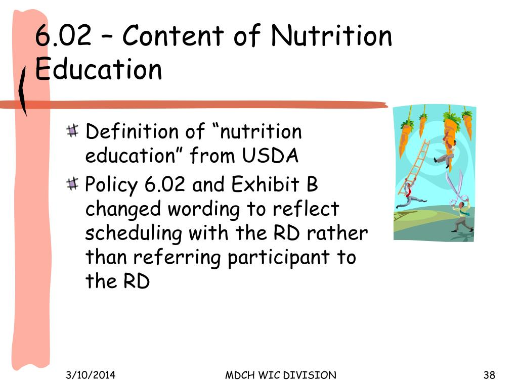 6.02 – Content of Nutrition Education