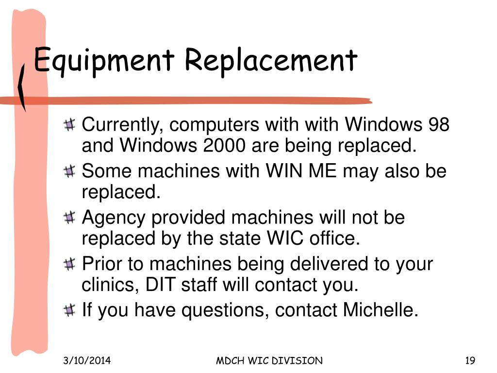 Equipment Replacement