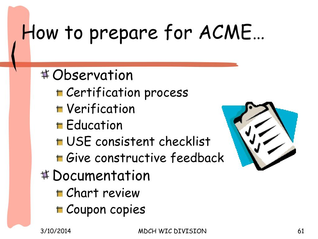 How to prepare for ACME…