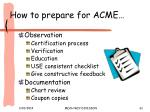 how to prepare for acme