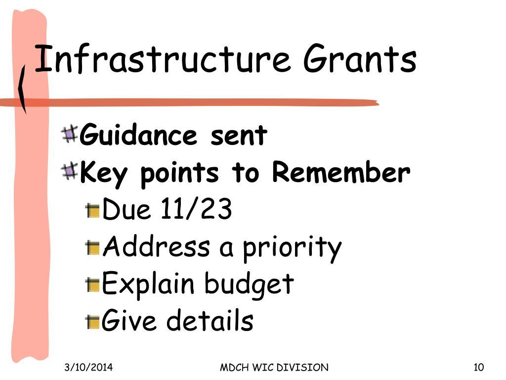 Infrastructure Grants