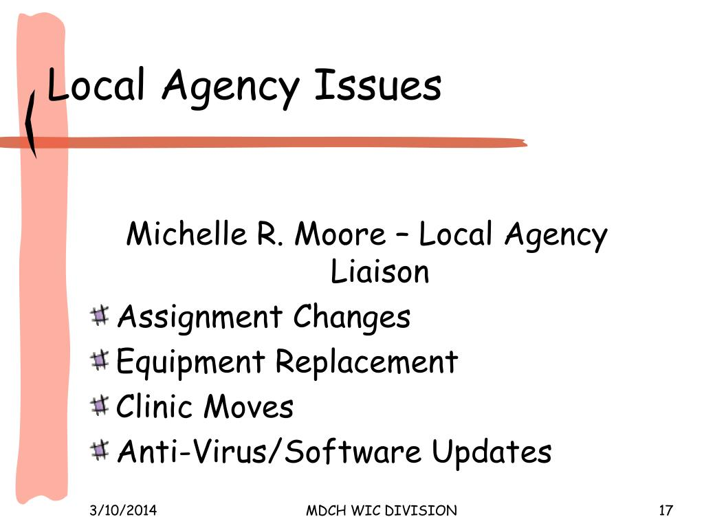 Local Agency Issues