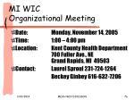 mi wic organizational meeting