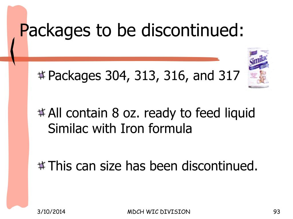 Packages to be discontinued: