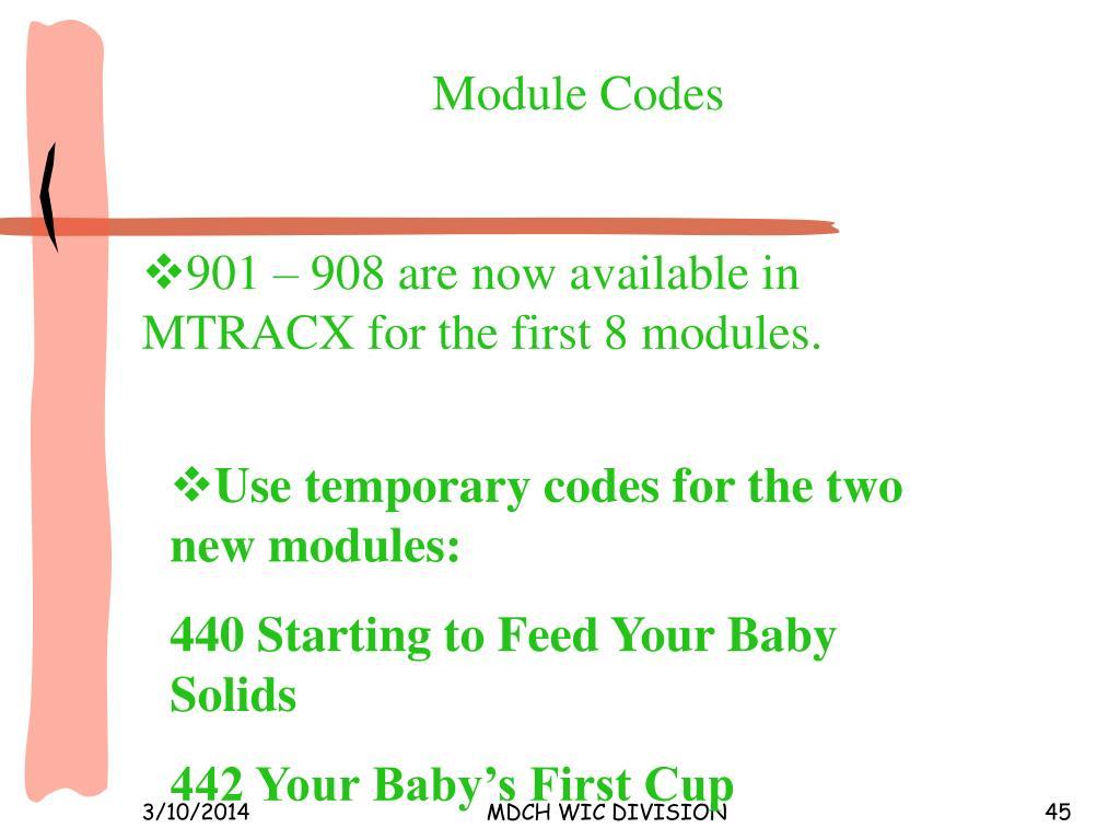 Module Codes