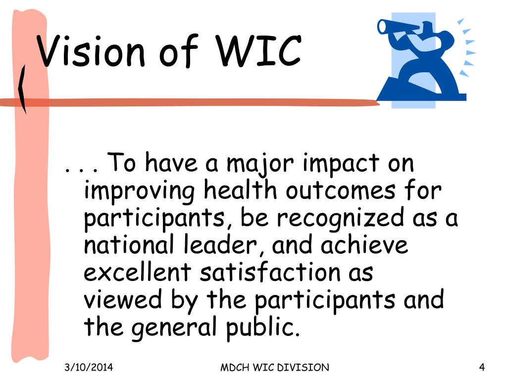 Vision of WIC