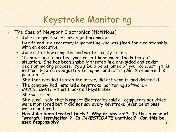 Keystroke Monitoring