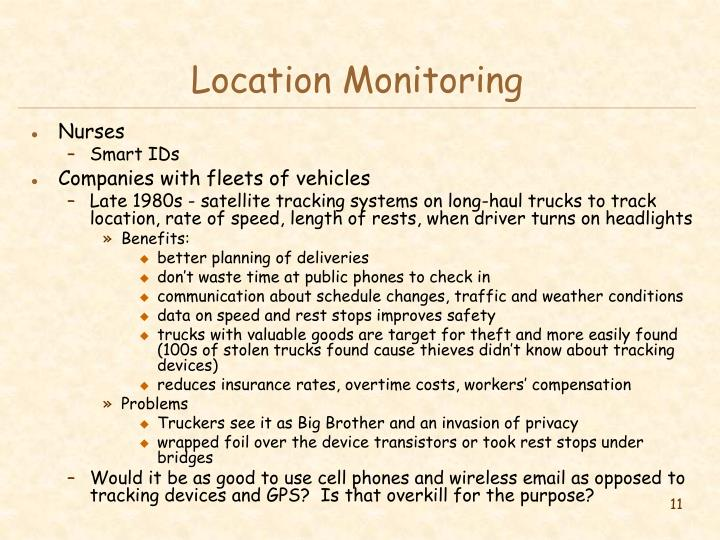 Location Monitoring