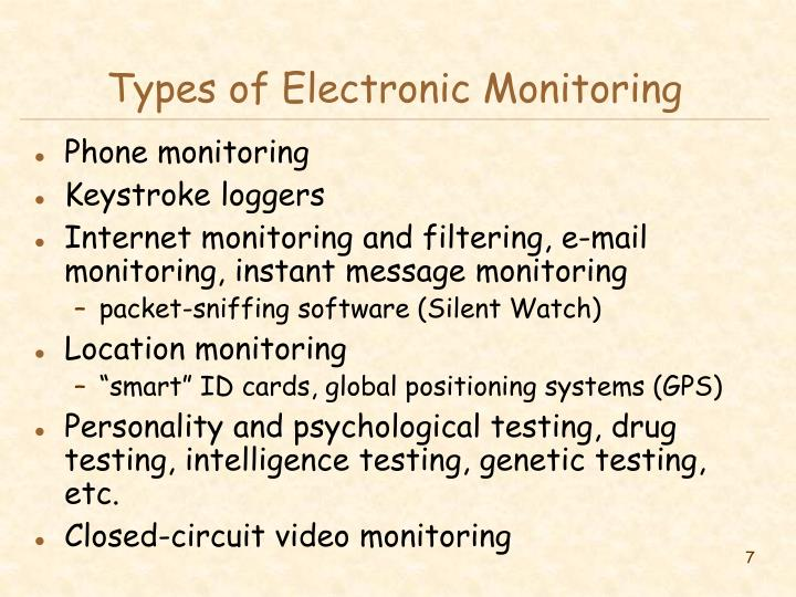 Types of Electronic Monitoring