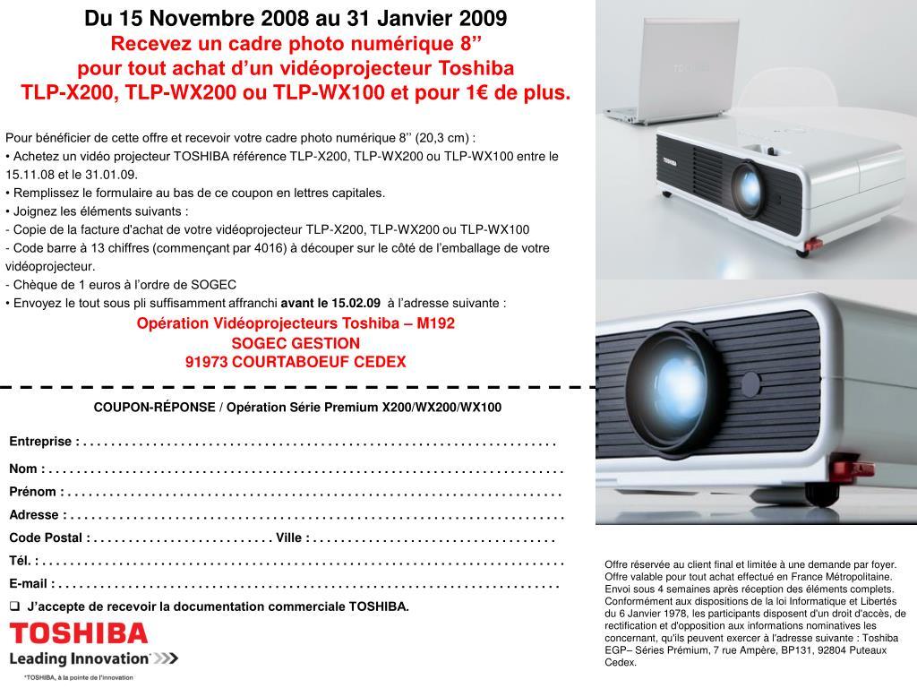 Du 15 Novembre 2008 au 31 Janvier 2009