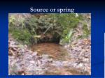 source or spring