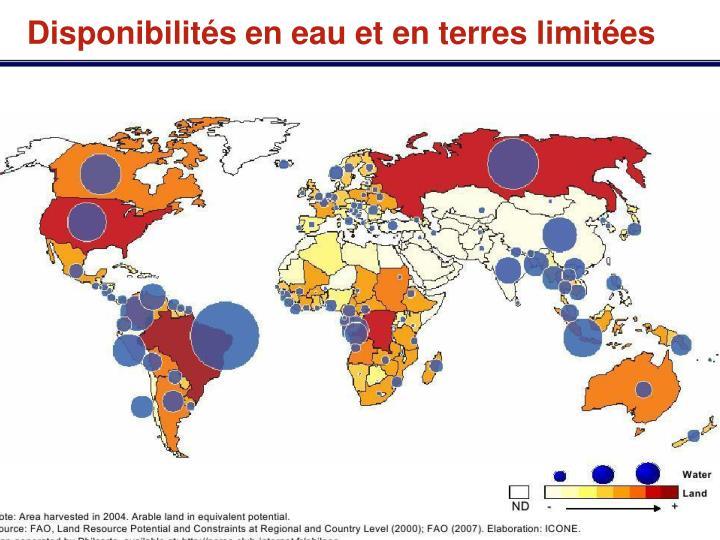 Disponibilités en eau et en terres limitées